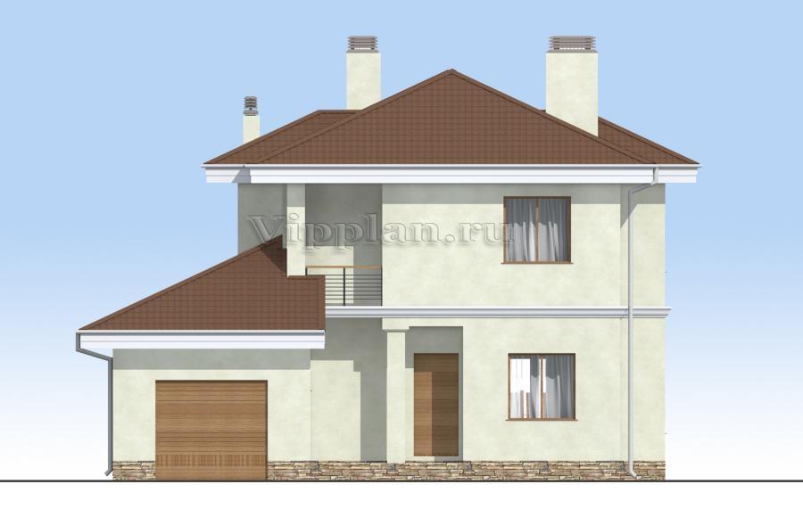 Фасады домов с гаражом фото