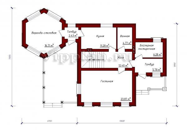Проект одноэтажного дома с тремя спальнями фото