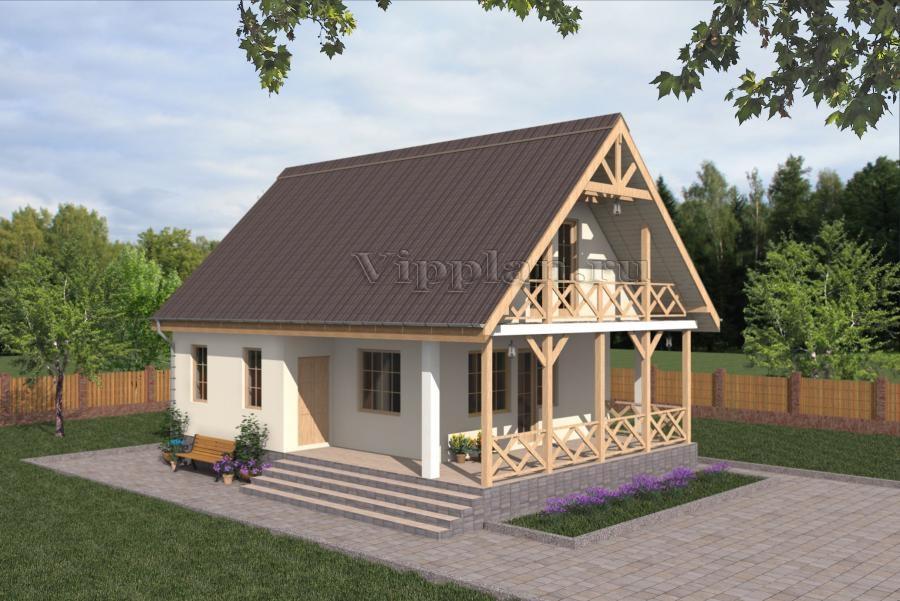 Проект дома с мансардой своими руками