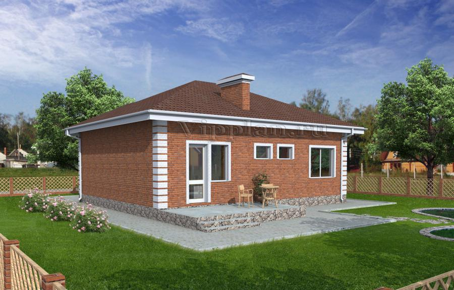 показать новые одноэтажные дома из оденарного кирпича