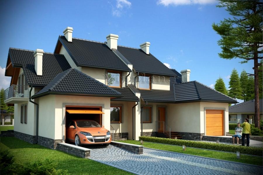 Дом с цоколем 118