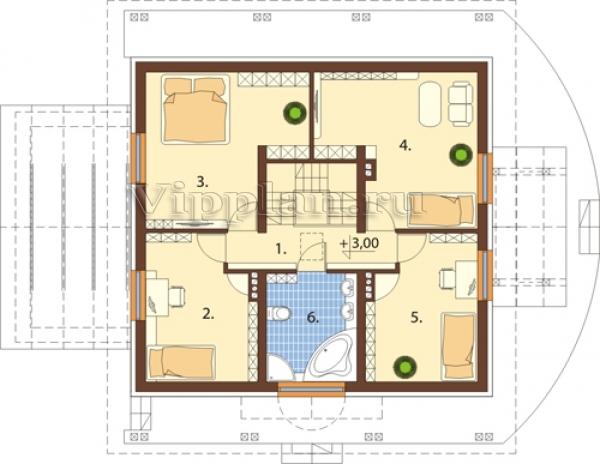 Дачный дом 6 на 4 с мансардой  domatoru