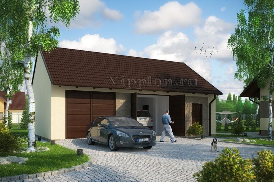 Проект гаража на две машины v419 проект