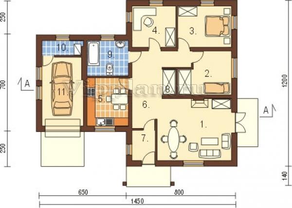проекты небольших домов с гаражом