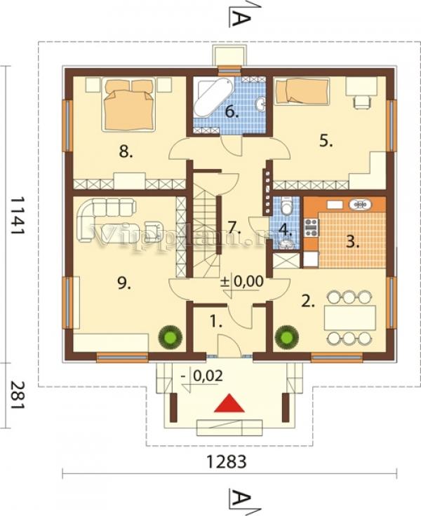 план одноэтажного дома 150 кв м с цоколем коммерческой недвижимости