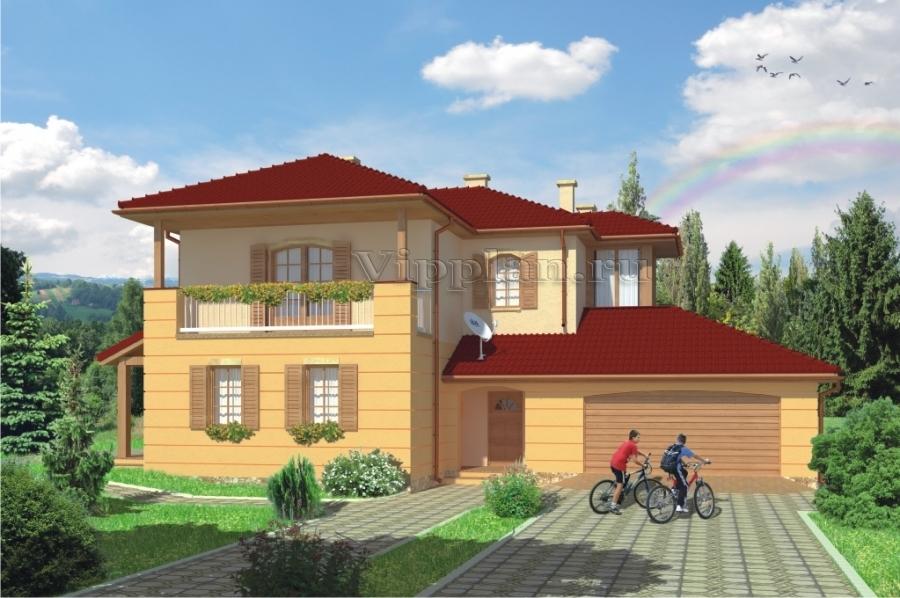 Проект двухэтажного дома v943